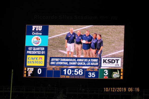 Game Ball Presentation 10-12-19 (Homecoming Game)